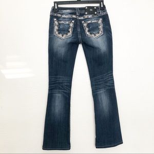 Miss Me Blinged Sequin Aztec Bootcut Jeans 27